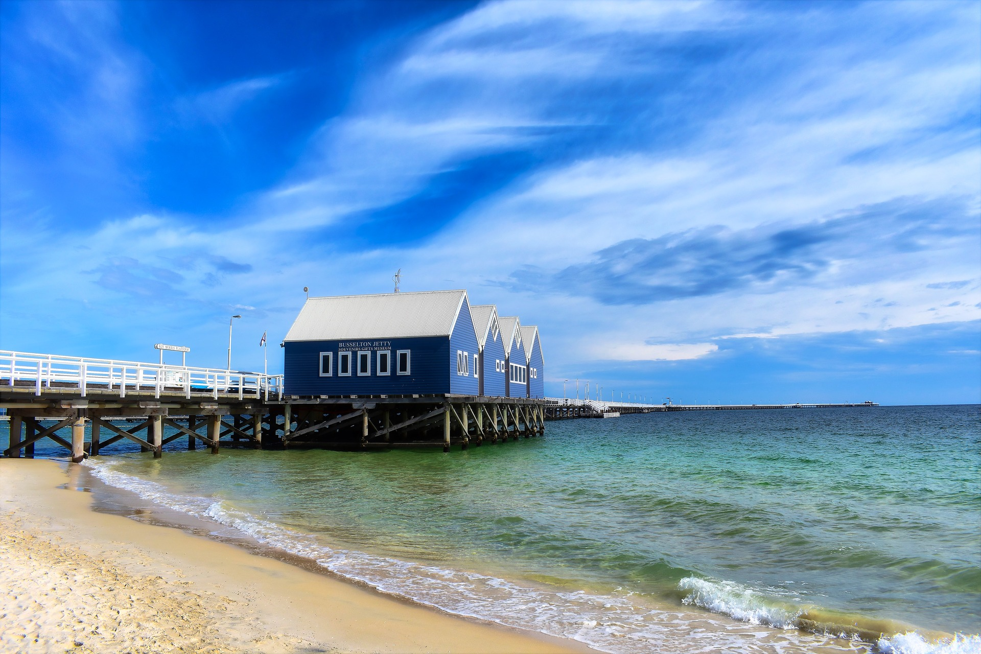 Busselton's iconic jetty. Not quite as busy as Santa Monica Pier.